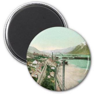 Vintage Alaska 2 Inch Round Magnet