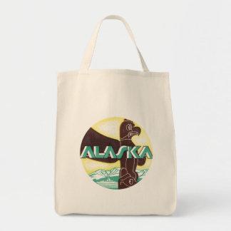 Vintage Alaska Tote Bags