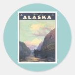Vintage Alaska Classic Round Sticker