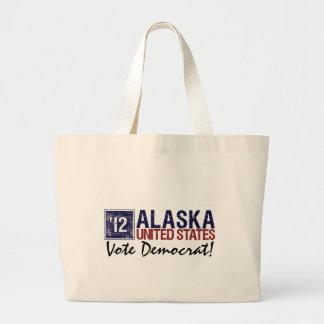 Vintage Alaska de Demócrata del voto en 2012 - Bolsas Lienzo