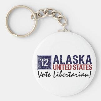 Vintage Alaska de Demócrata del voto en 2012 - Llavero Redondo Tipo Pin