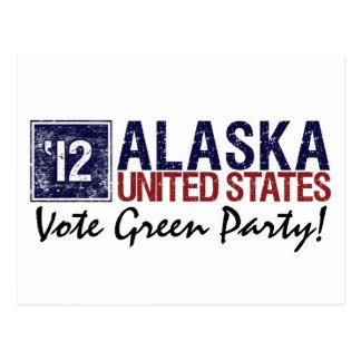 Vintage Alaska del Partido Verde del voto en 2012 Postal