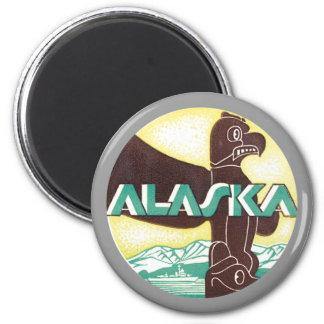Vintage Alaska Iman De Frigorífico