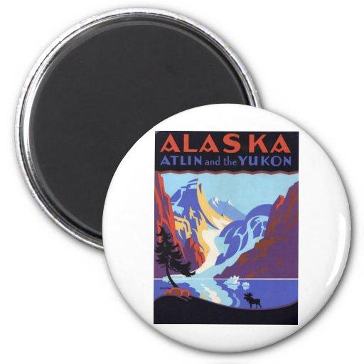 Vintage Alaska Magnets