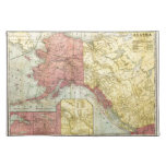 Vintage Alaska Map Cloth Place Mat
