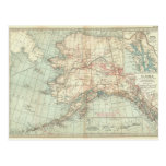 Vintage Alaska Map Postcard