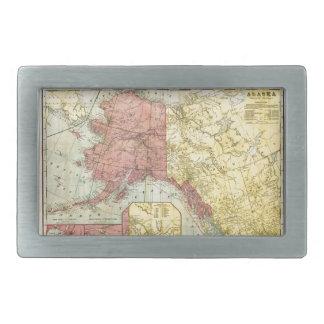 Vintage Alaska Map Rectangular Belt Buckle