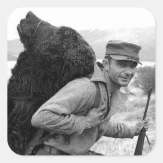 Vintage Alaska Pegatina Cuadrada