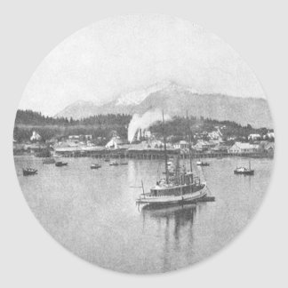Vintage Alaska Pegatina Redonda