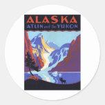 Vintage Alaska Pegatinas Redondas