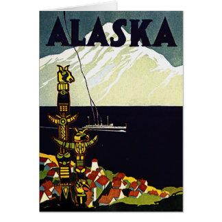 vintage alaska poster card