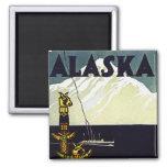 vintage alaska poster fridge magnet