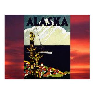 vintage alaska poster postcard