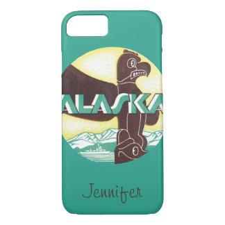 Vintage Alaska Travel Totem Pole Eagle Bird iPhone 7 Case