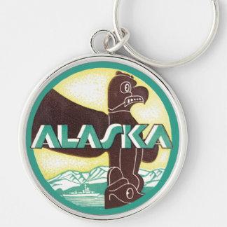 Vintage Alaska Travel Totem Pole Eagle Bird Keychains