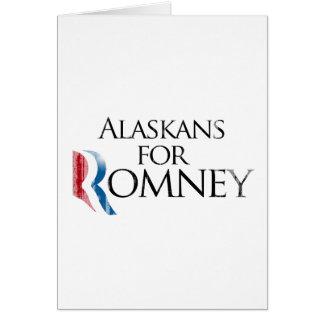 Vintage Alaskans for Romney -.png Greeting Card