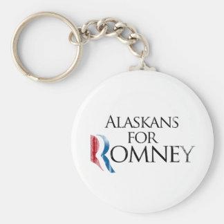 Vintage Alaskans for Romney -.png Basic Round Button Keychain