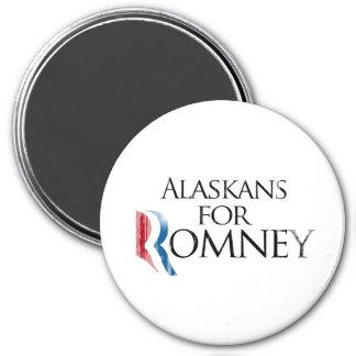 Vintage Alaskans for Romney -.png 3 Inch Round Magnet