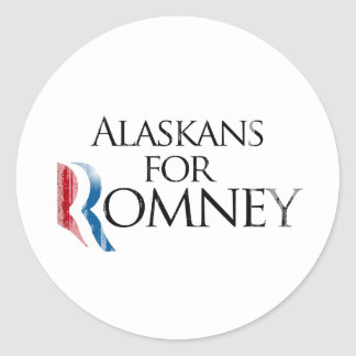 Vintage Alaskans for Romney -.png Classic Round Sticker
