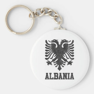 Vintage Albania Basic Round Button Keychain