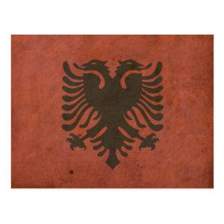 Vintage Albania Flag Postcard