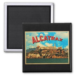 Vintage Alcatraz Island 2 Inch Square Magnet