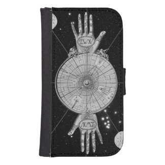 Vintage Alchemy Astrology Wallet Phone Case For Samsung Galaxy S4