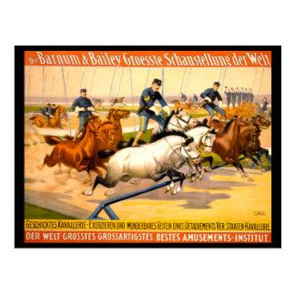 Vintage alemán 1900 del anuncio de circo postal