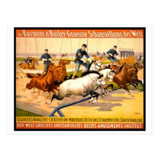 Vintage alemán 1900 del anuncio de circo tarjetas postales