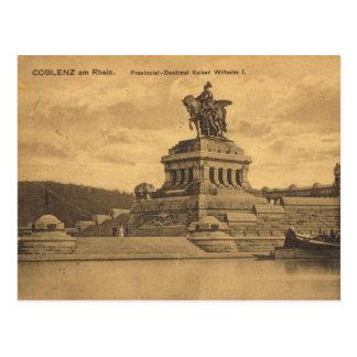Vintage Alemania, Coblenza Rhin Postal