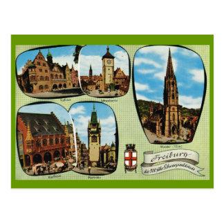 Vintage Alemania, Friburgo, Schwarzwald Postales