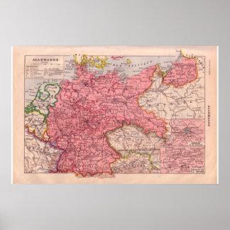 Vintage Alemania histórica 1920 Poster