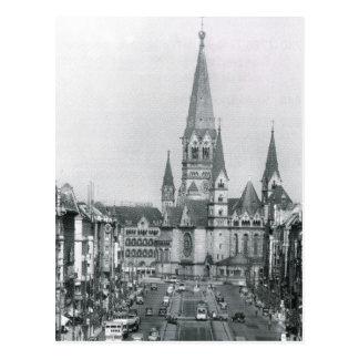 Vintage Alemania, Kaiser Wilhelm Kirche Postal