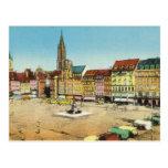 Vintage Alemania, Strassburg, KleberPlatz Postales
