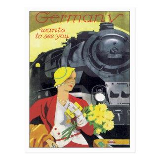Vintage Alemania Tarjetas Postales