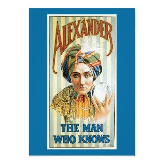 Vintage Alexander Magician Poster 1915 Card