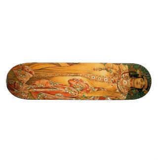 Vintage Alfons M. Mucha Skateboard Deck