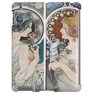 vintage Alfonso Mucha de la cubierta del iPad Funda Para iPad