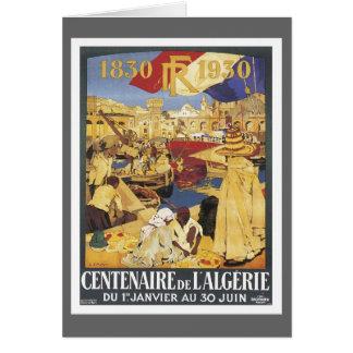 Vintage Algeria Centenaire Card