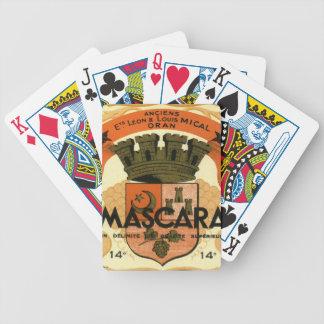 Vintage Algerian Wine label,  Mascara Bicycle Playing Cards