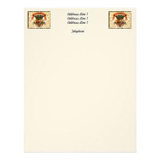 Vintage Algerian Wine label,  Mascara Letterhead