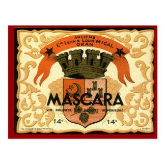 Vintage Algerian Wine ,  Mascara Oran Postcard