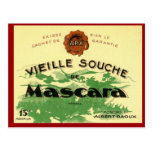 Vintage Algerian Wine ,  Mascara Vieille Souche Postcard