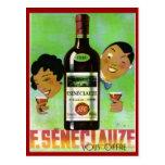 Vintage Algerian Wine, Seneclauze Postcard