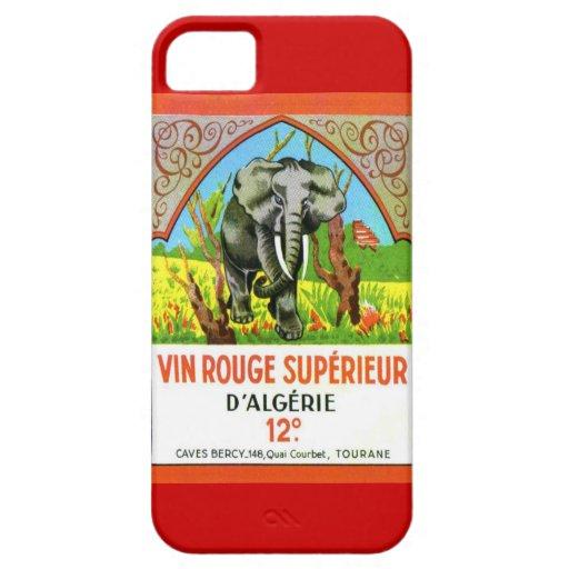 Vintage Algerian Wine, Vin Rouge Superieur iPhone 5 Cover
