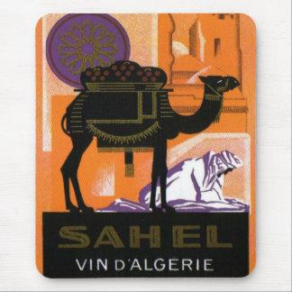 Vintage Algerian Wine, Vin Sahel, Algerie Mouse Pad