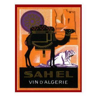 Vintage Algerian Wine, Vin Sahel, Algerie Postcard