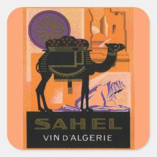 Vintage Algerian Wine, Vin Sahel, Algerie Square Sticker