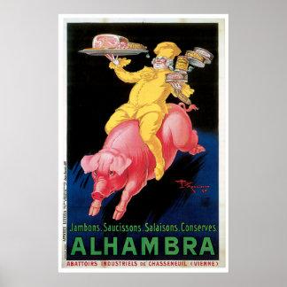 Vintage Alhambra  Poster- starting at 11.20 Poster