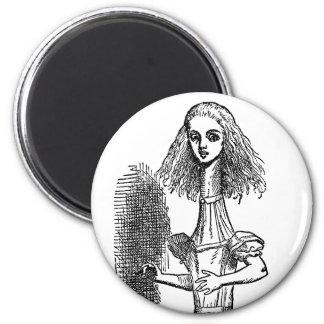 Vintage Alice Adventures in Wonderland by Tenniel Magnet